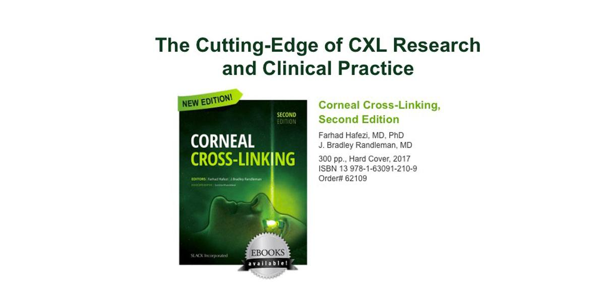 "2nd edition of the textbook ""Corneal Cross-Linking"" available at ASCRS 2017"
