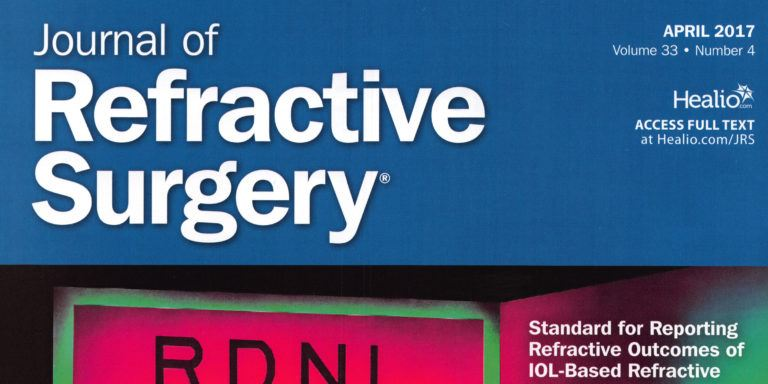 Journal of Refractive Surgery April 2017 Cross-Linking at the slit lamp