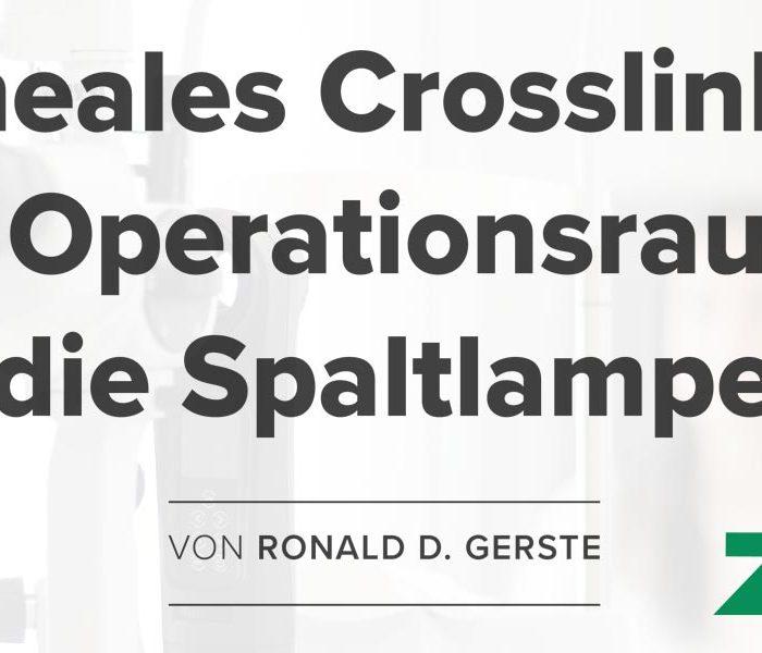 CXL At The Slit Lamp In German-Language Publication